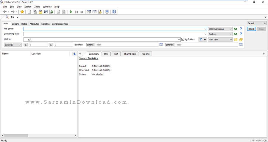 نرم افزار جستجو در کامپیوتر - FileLocator Pro 8