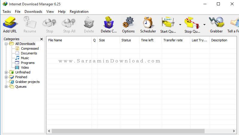 نرم افزار مدیریت دانلود - Internet Download Manager 6.25 Build 20