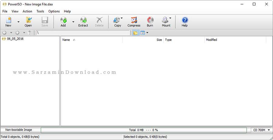 نرم افزار رایت ISO Image و ساخت درایو مجازی - PowerISO 6.6