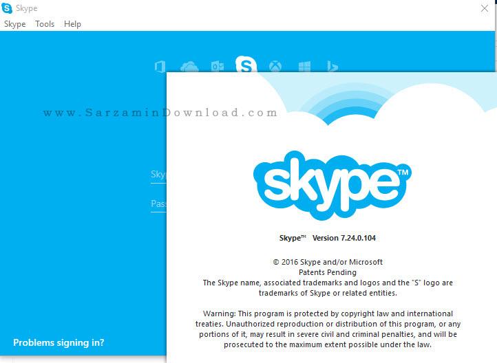نرم افزار تماس صوتی و تصویری اسکایپ - Skype 7.24