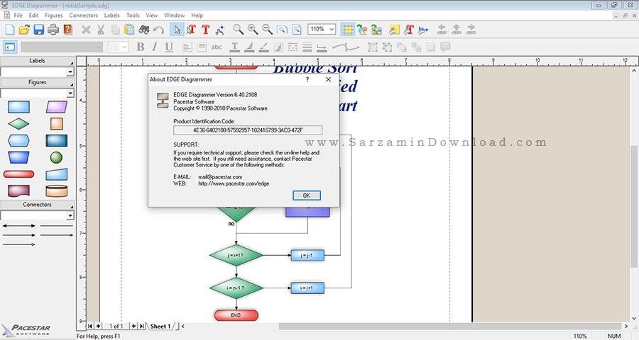نرم افزار طراحی و چاپ انواع نمودار و فلوچارت - EDGE Diagrammer 6.40