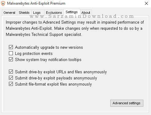 نرم افزار شناسایی برنامه های مخرب - Malwarebytes Anti-Exploit Premium 1.08