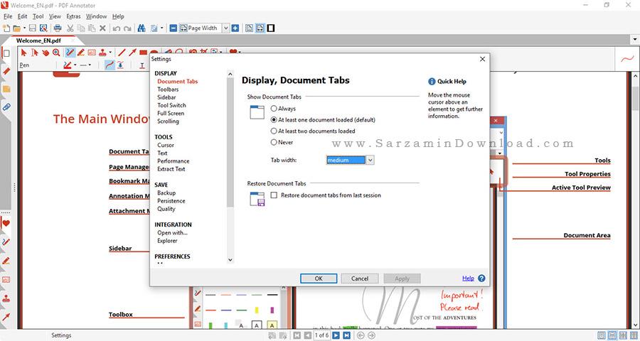 نرم افزار ویرایش و علامت گذاری روی پی دی اف - PDF Annotator 6