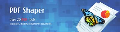 نرم افزار ویراشگر و مبدل فایل های پی دی اف - PDF Shaper Professional 5.3