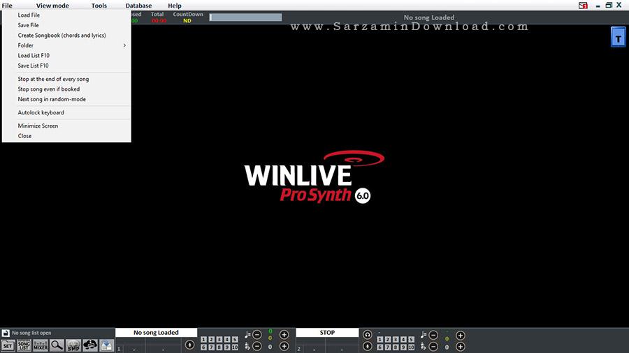 نرم افزار پخش MIDI و ترک های صوتی - WinLive Pro Synth 6