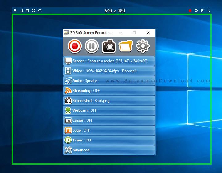 نرم افزار فیلم برداری و عکسبرداری از محیط دسکتاپ - ZD Soft Screen Recorder 9.4