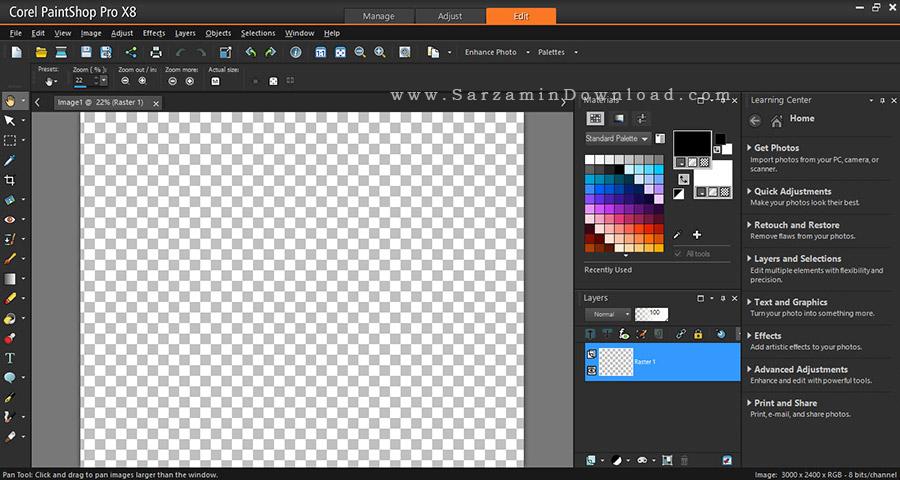 نرم افزار فوق حرفه ای ویرایش عکس کورل - Corel PaintShop Pro X8 Ultimate 18.2