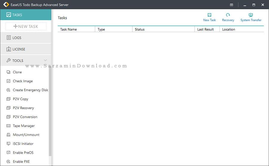 نرم افزار پشتیبان گیری و تهیه بکاپ از سرور - EASEUS Todo Backup Advanced Server 9.2