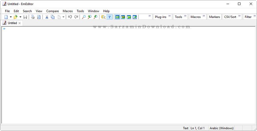 نرم افزار حرفه ای ویرایشگر متن - Emurasoft EmEditor Professional 15.9