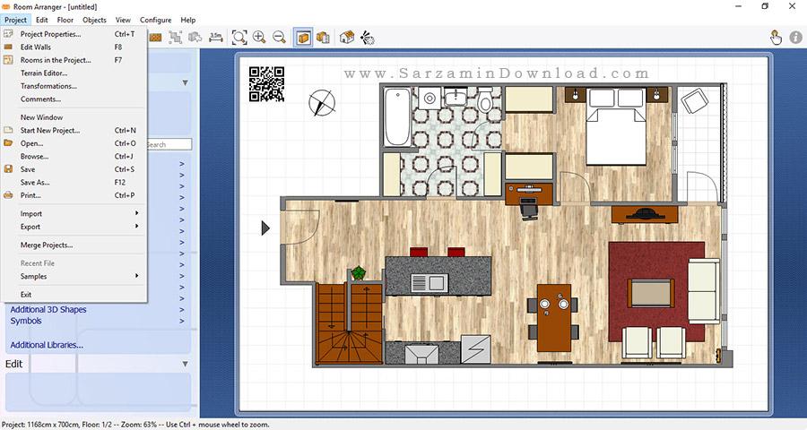 نرم افزار طراحی دکوراسیون داخلی - Room Arranger 8.4