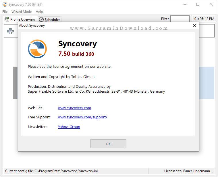 نرم افزار همگام سازی فایل ها - Syncovery Pro 7.50