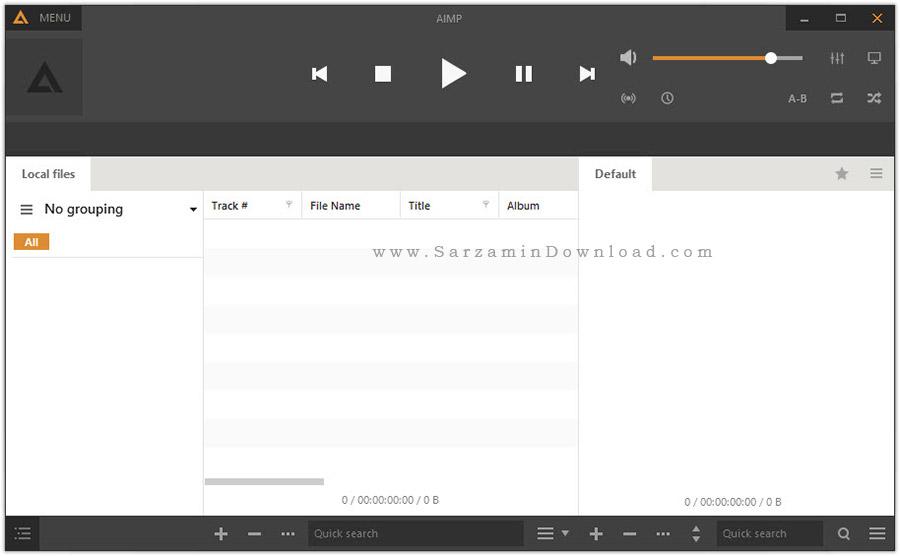 نرم افزار پخش فایل های صوتی - AIMP 4.02