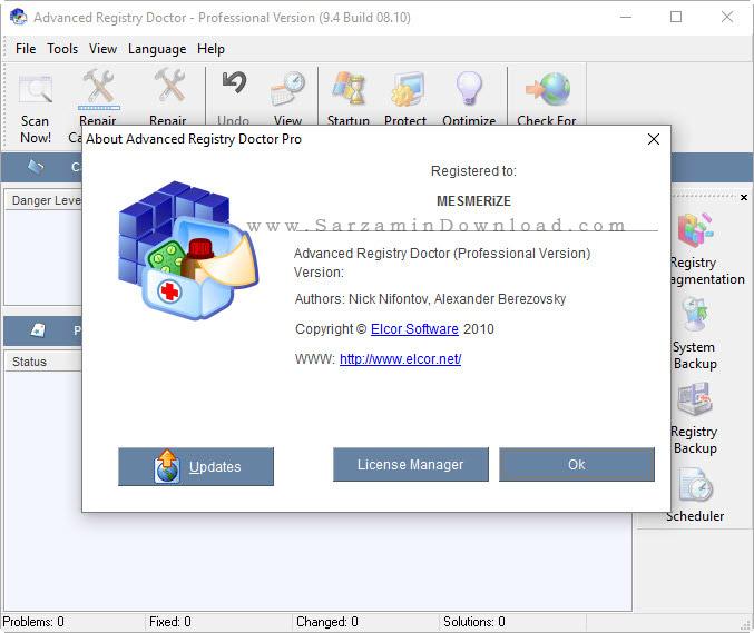 نرم افزار حرفه ای بهینه سازی و رفع مشکلات رجیستری - Advanced Registry Doctor Professional 9.4.8