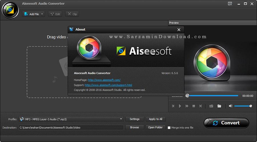 نرم افزار تبدیل فرمت فایل های صوتی - Aiseesoft Audio Converter 6.5.6