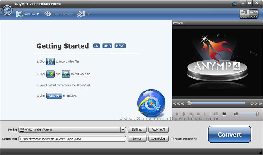 نرم افزار افزایش کیفیت فیلم - AnyMP4 Video Enhancement 1.0.28