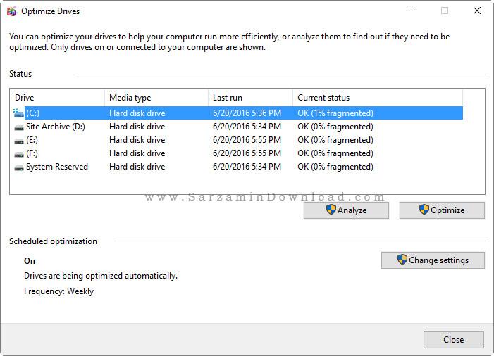 آموزش مرتب سازی هارد دیسک (دیفرگ)