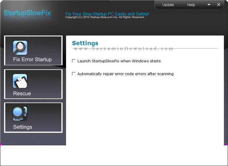 نرم افزار تعمیر ویندوز - StartupSlowFix 3.5