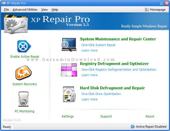 نرم افزار تعمیر ویندوز ایکس پی - XP Repair Pro 6.0.6