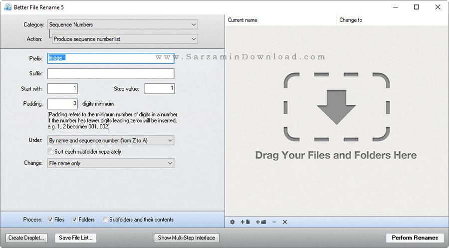 نرم افزار تغییر نام دسته جمعی فایل ها - Better File Rename 5.54