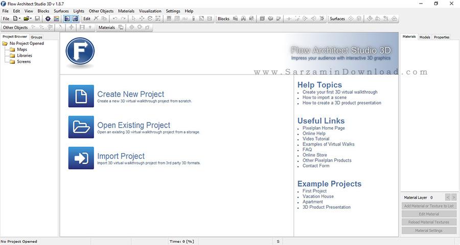 نرم افزار طراحی ساختمان و دکوراسیون داخلی - Flow Architect Studio 3D v1.8.7