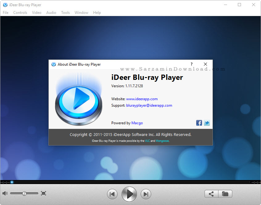 نرم افزار پخش Bluray (بلو ری) - iDeer Blu-ray Player 1.11.7