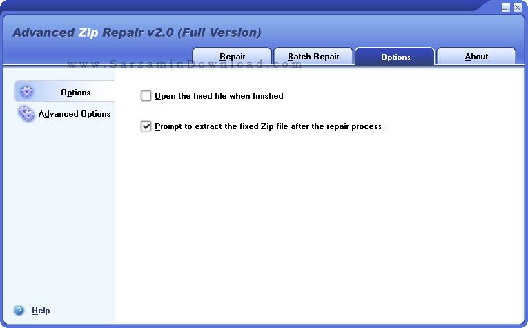 نرم افزار تعمیر فایل های فشرده - Advanced Zip Repair 2