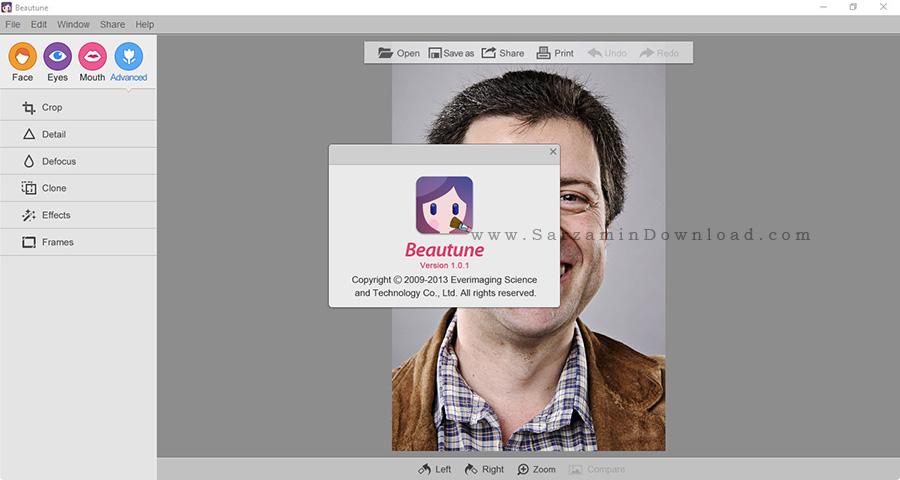 نرم افزار روتوش عکس - Beautune 1.0.1