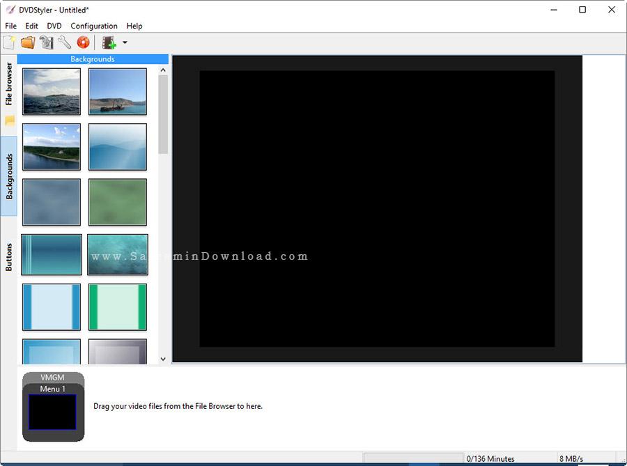 نرم افزار ساخت منو دی وی دی - DVDStyler 2.9.6