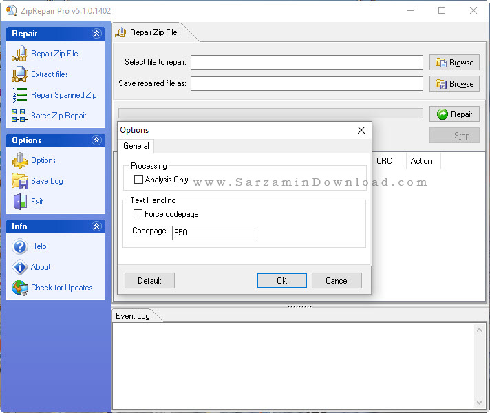 نرم افزار تعمیر فایل های فشرده - GetData Zip Repair 5.1