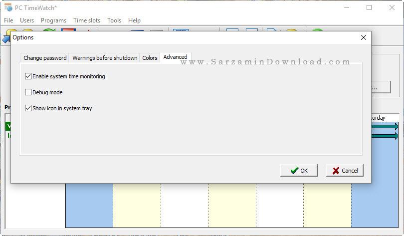 نرم افزار زمانبندی کار با کامپیوتر - MainSoft PC TimeWatch 1.11