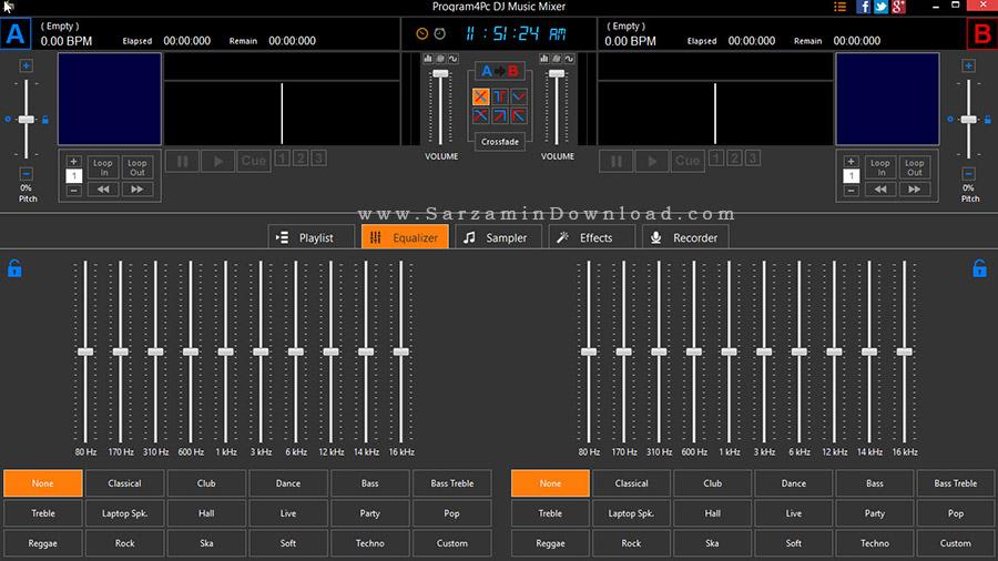 نرم افزار میکس آهنگ - DJ Music Mixer 5.5