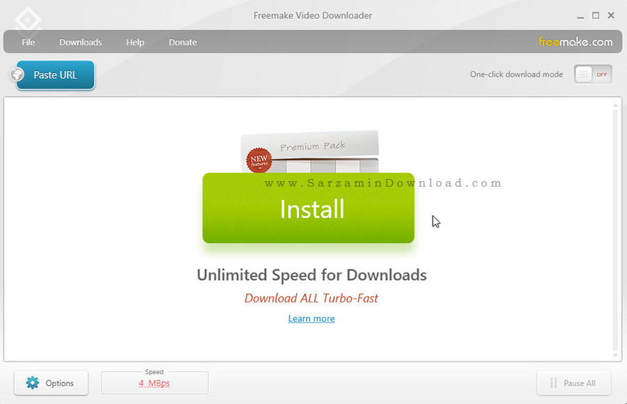 نرم افزار دانلود فیلم های آنلاین - Freemake Video Downloader 3.8.0.11