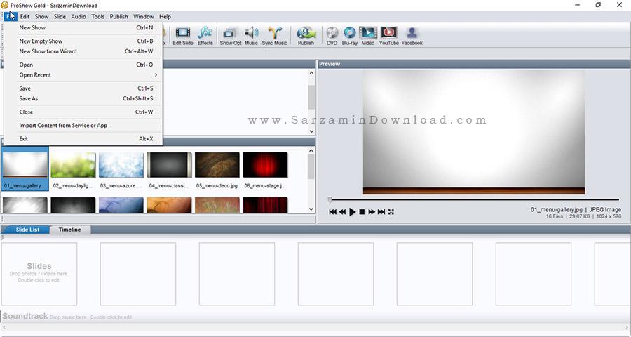 نرم افزار ساخت کلیپ با عکس - ProShow Gold 6