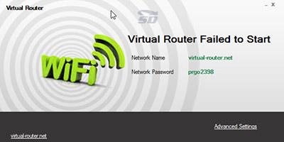 نرم افزاراشتراک گذاری اینترنت لپ تاپ - Virtual Router Plus 3.3