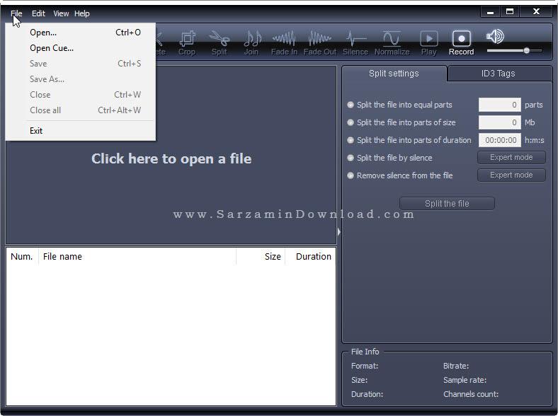 نرم افزار برش آهنگ - X-Wave MP3 Cutter Joiner 3