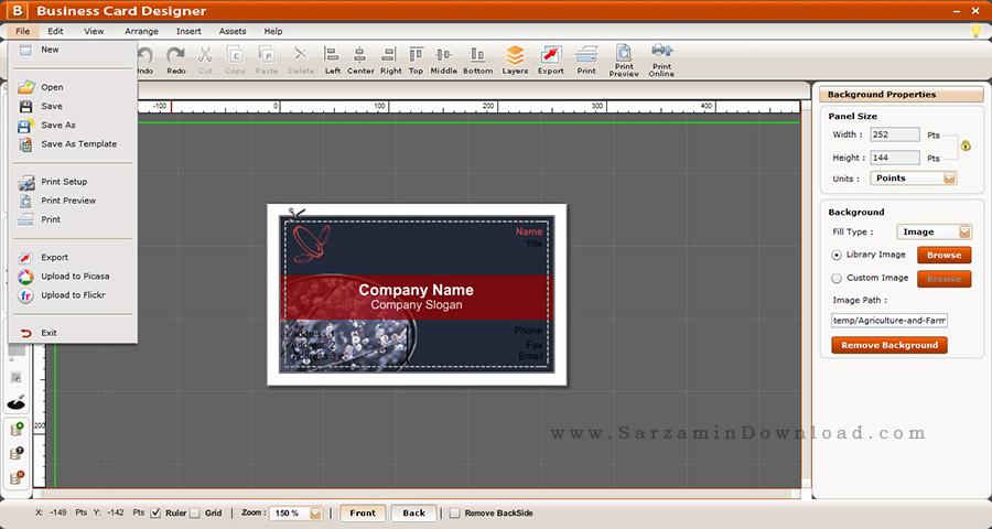 نرم افزار طراحی کارت ویزیت - Business Card Designer 5