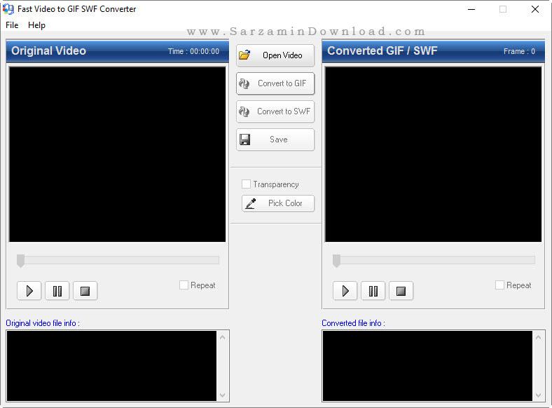 نرم افزار تبدیل فایل فیلم به فلش و گیف - Fast Video to GIF SWF Converter 3.2