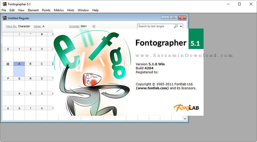 نرم افزار ساخت فونت - Fontographer 5.1