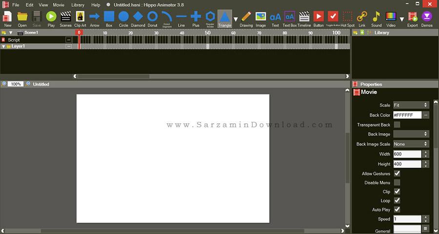 نرم افزار گیف انیمیشن - Hippo Animator 3.8.5