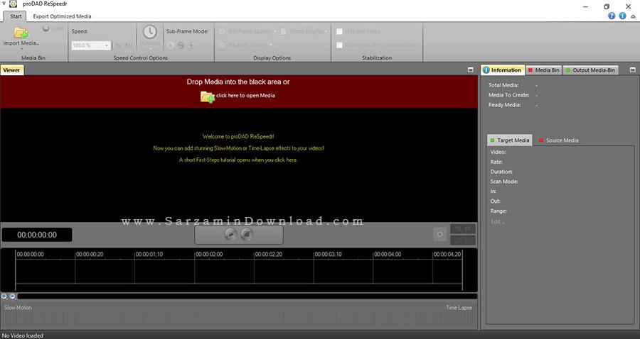 نرم افزار صحنه آهسته فیلم - ProDAD ReSpeedr 1.0.34