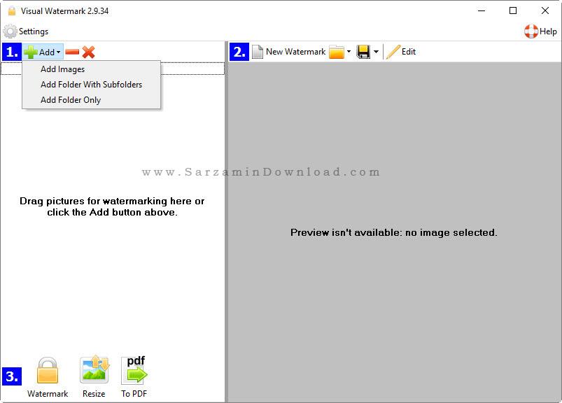 نرم افزار واترمارک عکس - Visual Watermark 2.9.34