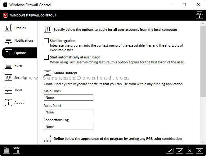 نرم افزار فایروال - Windows Firewall Control 4.8