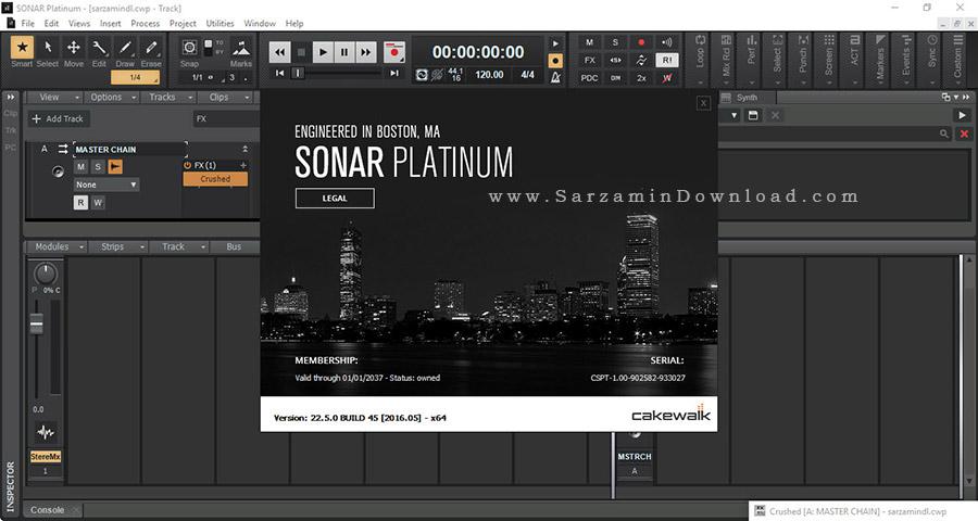 نرم افزار آهنگ سازی سونار - Cakewalk SONAR Platinum 22.5