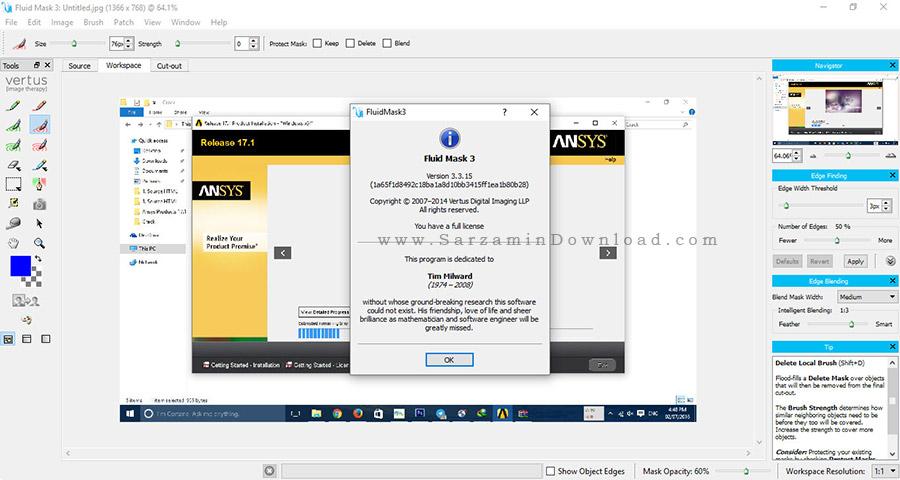 نرم افزار حذف بک گراند عکس - Fluid Mask 3.3.15