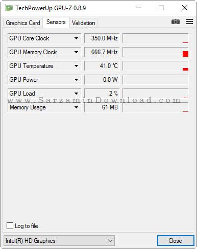 نرم افزار نمایش مشخصات کارت گرافیک - GPU-Z 0.8.9