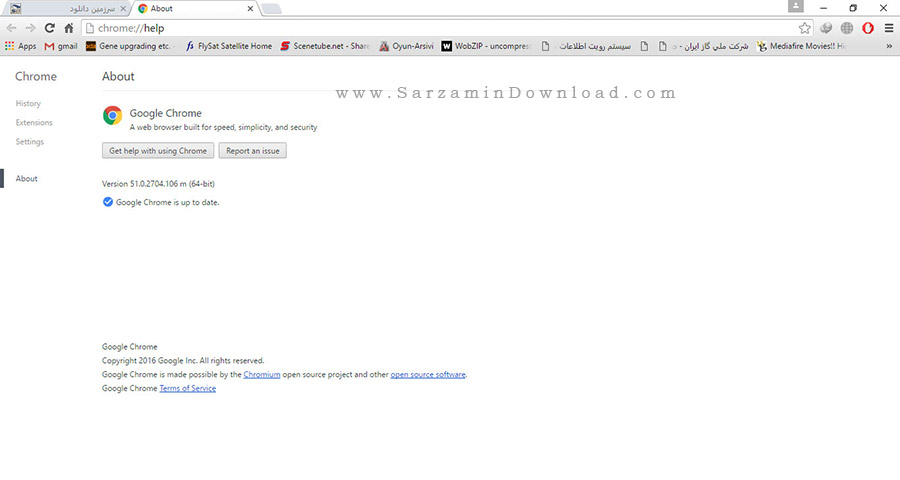 مرورگر گوگل کروم - Google Chrome 51.0.2704.106