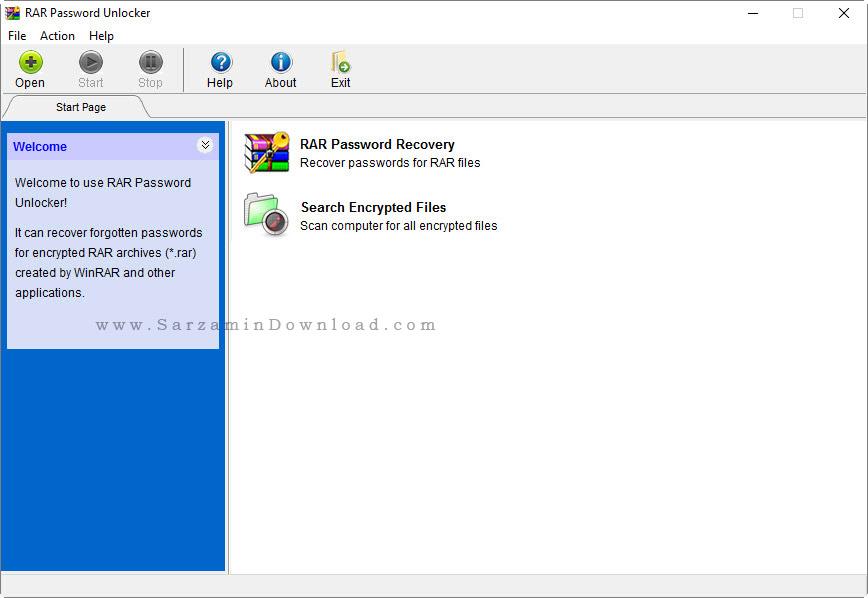 نرم افزار برداشتن پسورد رر - RAR Password Unlocker 5