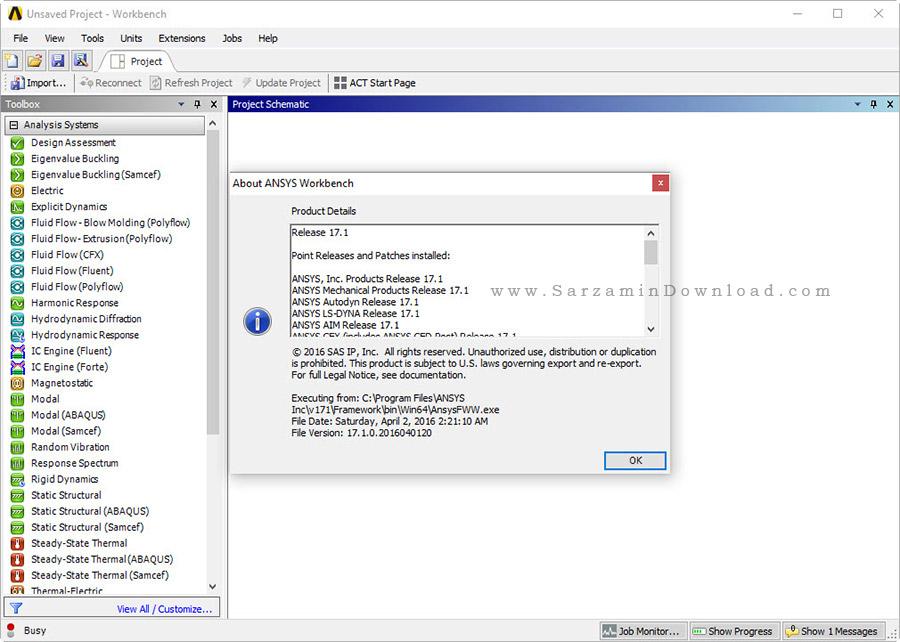 نرم افزار آنالیز و تحلیل انسیس - Ansys Products 17.1