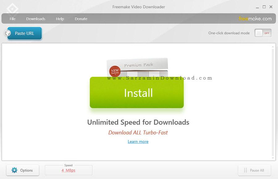 نرم افزار دانلود فیلم های آنلاین - Freemake Video Downloader 3.8.0.15