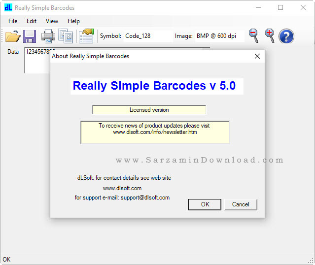 نرم افزار ساخت و چاپ بارکد - Really Simple Barcodes 5.02